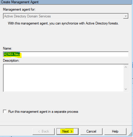 Create Management Agent